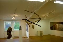 """""""Luftschiff"""", Eiche im Feuer gebogen, Maße ca. 180 × 110 × 90 cm³, 2007"""