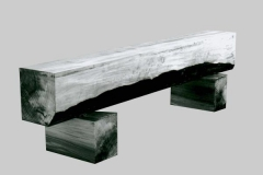 Bank, Pappel, Maße ca. 180 × 40 × 30 cm³, 1995