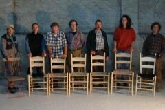 Die fertigen Stühle