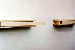 Speicher, Ahorn, sägerauh, Maße ca. 14 × 300 × 14 cm³, 2000, € 1300.-