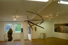 Luftschiff, Holz, gebrannt, Maße ca. 110 × 250 × 80 cm³, 2007, € 1500.-