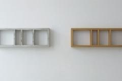 O.T., Beton, Pappel, Maße ca. 40 × 300 × 16 cm³, 1995