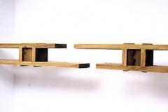 O.T., Eiche, Maße ca. 35 × 400 × 35 cm³, 1998