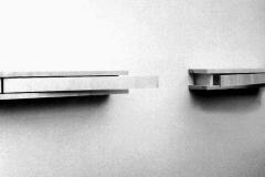 O.T., Ahorn, sägerauh, Maße ca. 18 × 350 × 18 cm³, 2001