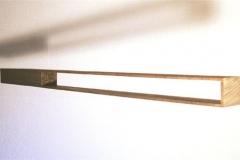 O.T., Nuss, Maße ca. 7 × 110 × 10 cm³, 2007