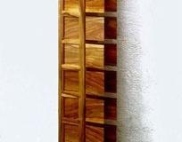 """Speicher"", Nuss, Maße ca. 130 × 18 × 15 cm³, 2001"