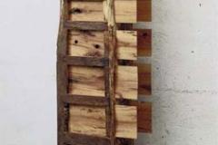 """Speicher"", Eiche, Maße ca. 220 × 60 × 20 cm³, 2002"