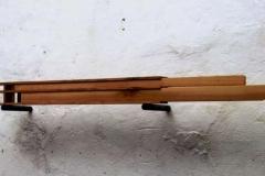 """""""Speicher"""", Ulme, Maße ca. 80 × 12 × 6 cm³, 2001"""